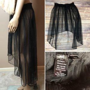 Pretty Angel Tulle Black Tutu High Low Skirt Goth